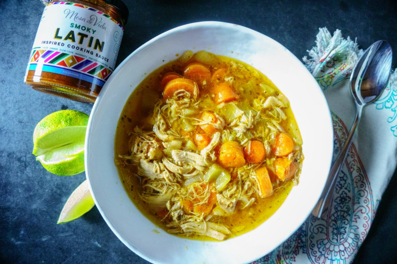 Slow Cooker Chicken Soup with Latin Sauce image