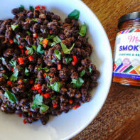 braised canned black beans