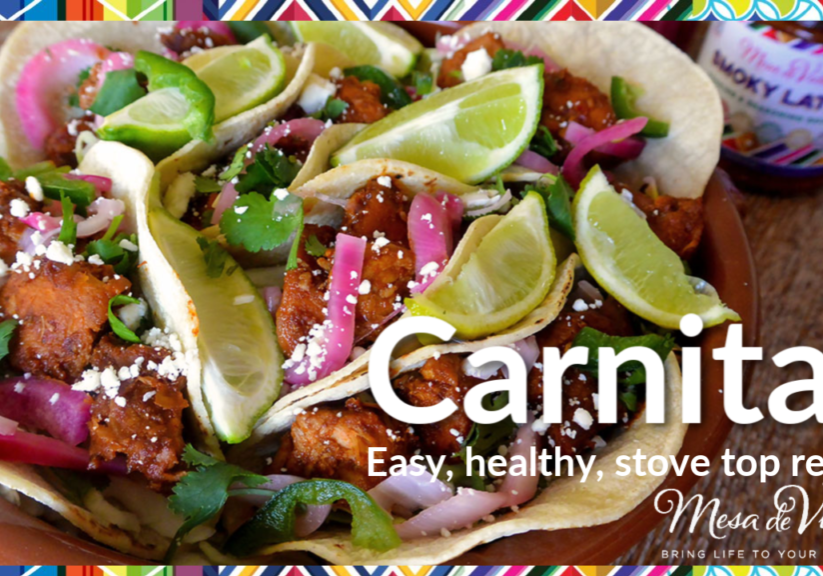 How to make lower fat healthy carnitas