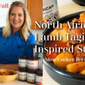 Healthy and easy gourmet North African lamb tagine slow cooker recipe