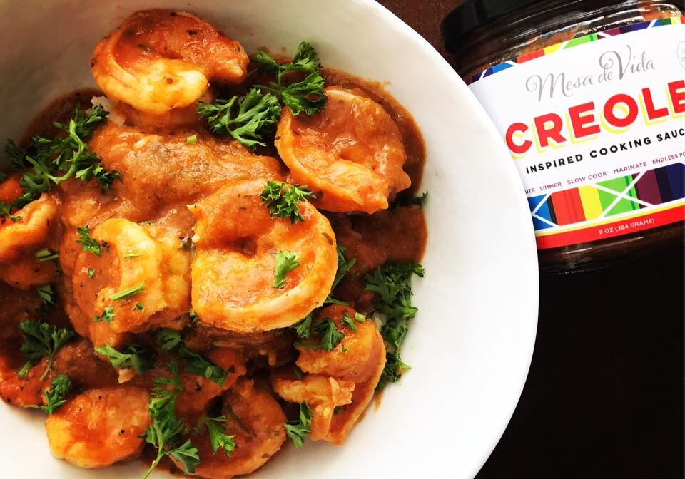 Healthy Creole cooking sauce helps you make a healthy shrimp etouffee recipe, simply.