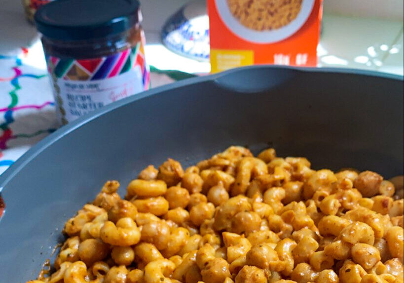 Turning a box of macaroni and cheese into a gourmet meal!
